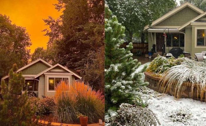 """Một tiểu bang Mỹ vừa chứng kiến thời tiết """"quay xe"""" gắt chưa từng thấy: Từ nóng kỷ lục chuyển thành bão tuyết trong vỏn vẹn 2 ngày"""