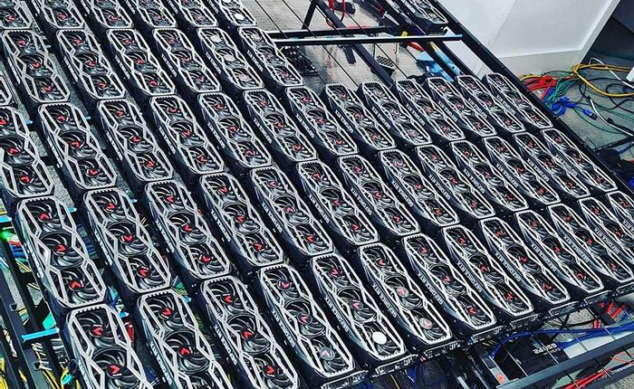Dùng 78 chiếc RTX 3080 cày tiền ảo, chủ nhân kiếm 3 tỷ đồng/năm
