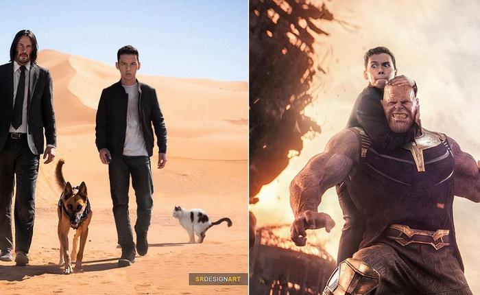 Anh designer tự photoshop bản thân vào chung ảnh với các ngôi sao nổi tiếng cực chân thật, từ Avengers cho đến John Wick không trượt bức nào
