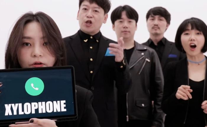 """Độc đáo màn """"tái hiện"""" nhạc chuông, âm báo thức, âm báo tin nhắn trên iPhone theo phong cách nhạc Capella"""