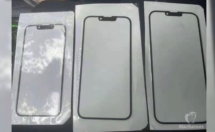 Lộ mặt kính của iPhone 13, xác nhận rãnh tai thỏ nhỏ hơn