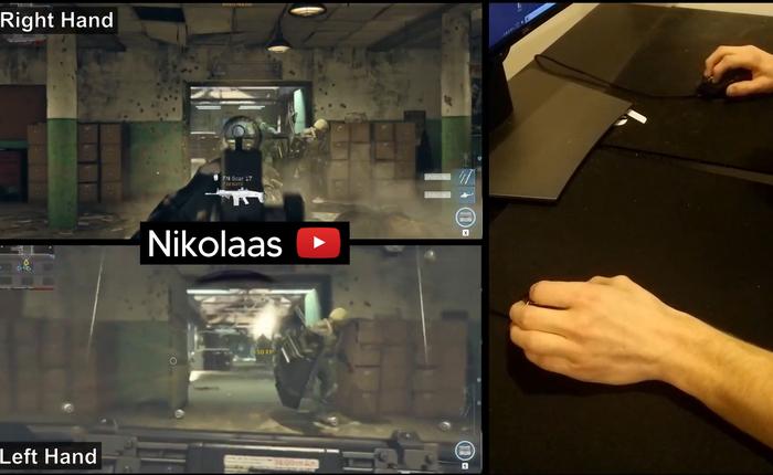 """Hai tay hai súng đời thực: game thủ Call of Duty điều khiển hai nhân vật cùng lúc, vẫn có thể """"ăn mạng"""" đều"""