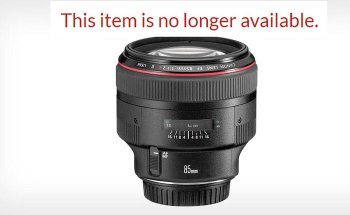Canon ngừng sản xuất hàng loạt ống kính EF, dấu hiệu của việc từ bỏ thị trường máy ảnh DSLR?