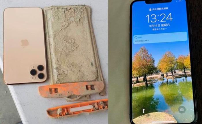iPhone 11 Pro Max hoạt động bình thường sau 1 năm lặn dưới đáy hồ ngập bùn