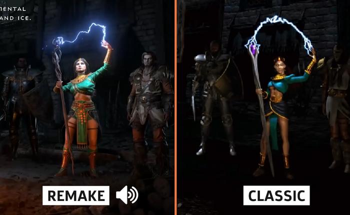 Mời bạn xem video so sánh Diablo II cũ và mới, tự mình đánh giá xem game đã hoàn thiện tới mức nào