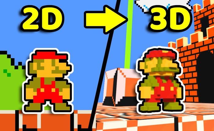 """YouTuber 3D hóa tựa game """"4 nút"""" kinh điển Super Mario Bros., chơi cực mượt, đủ tính năng không trượt cái nào"""