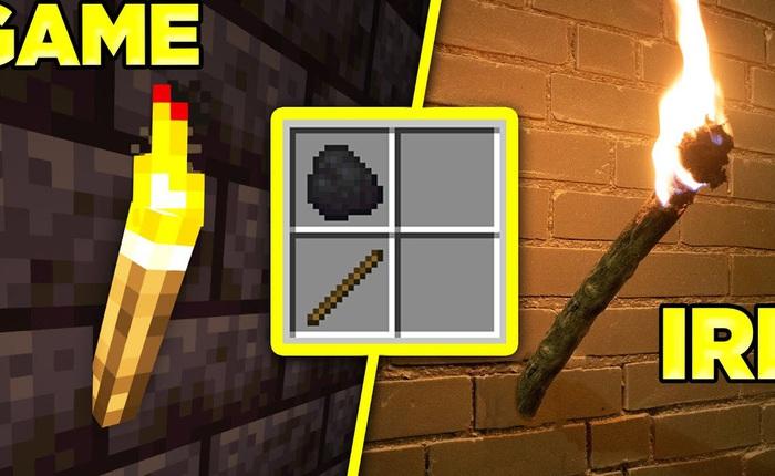 YouTuber chế tạo ngọn đuốc dựa trên công thức trong Minecraft, tưởng hư cấu nhưng lại cháy rực rỡ, dai dẳng y như trong game