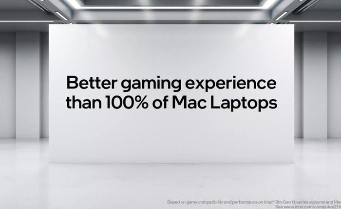 """Intel tuyên bố chip của họ cùng với Windows cho 100% MacBook trên thị trường """"hít bụi"""" khi nói về khả năng chơi game"""