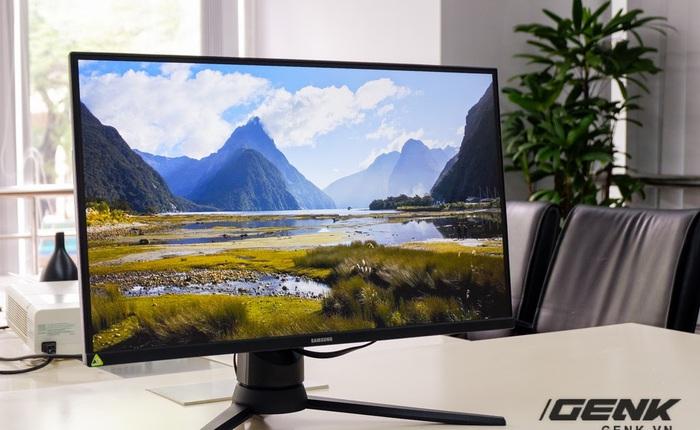Ảnh thực tế Odyssey G3: Màn hình gaming giá mềm cho game thủ, trang bị từ AMD FreeSync Premium, tần số quét 144Hz, độ phản hồi chỉ 1ms