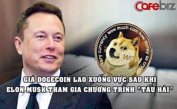 Elon Musk 'thổi bay' 22 tỷ USD vốn hóa Dogecoin sau khi xuất hiện trên chương trình 'tấu hài' Saturday Night Live