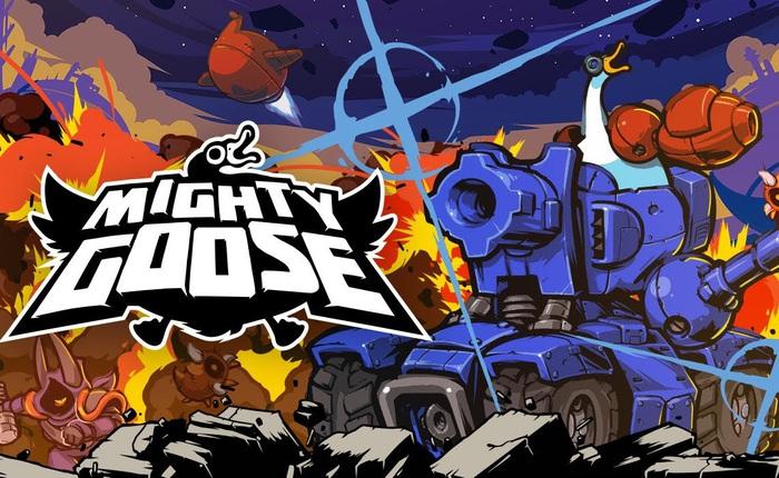 """Giới thiệu game Mighty Goose: """"hậu duệ"""" của Rambo Lùn trứ danh, đưa bạn vào vai một con ngỗng hùng mạnh trang bị súng ống tận răng"""