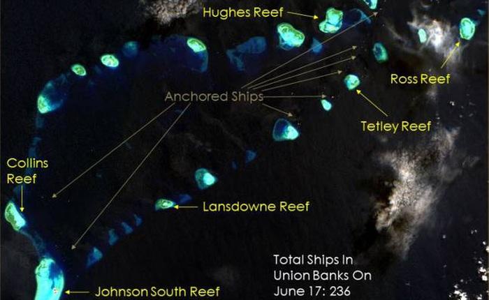 Trung Quốc được cho là đã đổ quá nhiều rác vào đại dương và có thể nhìn thấy từ không gian