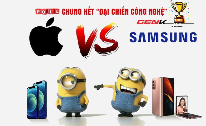 """Poll: Chung kết Đại chiến """"Thế giới di động"""" - Apple và Samsung: """"Derby duyên nợ 2 gã khổng lồ làng công nghệ"""""""