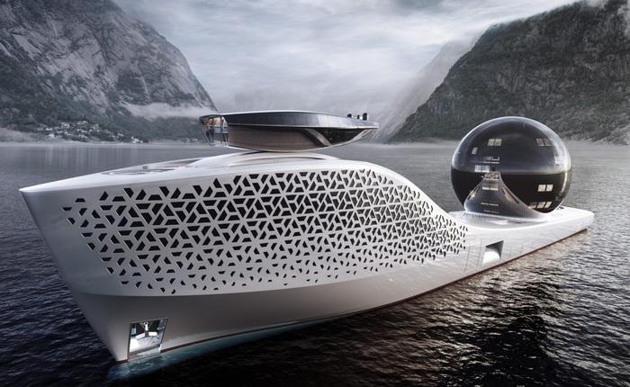 Siêu du thuyền chạy bằng năng lượng hạt nhân này sẽ trở thành trung tâm nghiên cứu khoa học trên biển cả