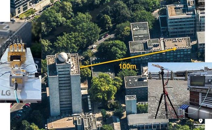 LG thử nghiệm thành công việc truyền tải ngoài trời mạng 6G THz