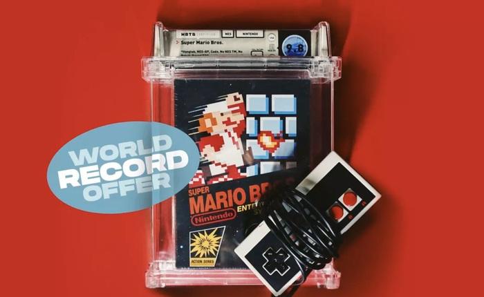 Sau màn đấu giá 1,5 triệu USD, băng điện tử Mario lại lập kỷ lục mới với giá 2 triệu USD
