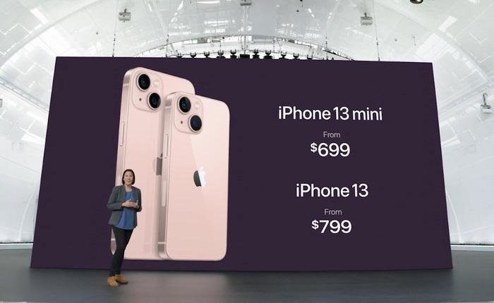 """iPhone 13 và iPhone 13 mini chính thức: """"Tai thỏ"""" gọn hơn, camera có chống rung cảm biến, Apple A15, giá từ 699 USD"""