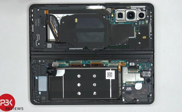 Mổ bụng Galaxy Z Fold 3: Khó sửa chữa, khó tháo lắp và hệ thống linh kiện phức tạp