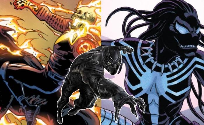 Sẽ ra sao nếu Black Panther là Ghost Rider, Symbiotes hay thậm chí là người tiền sử đến từ 1.000.000 năm trước Công nguyên?