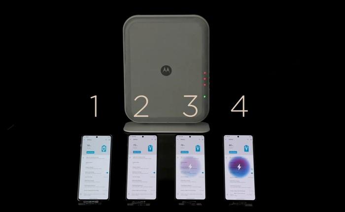Motorola trình diễn công nghệ truyền năng lượng không dây: sạc 4 thiết bị cùng lúc ở khoảng cách 3 m