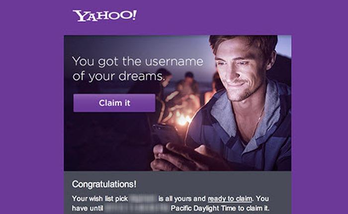 """Yahoo! cho phép người dùng """"rình rập"""" những nick đẹp để đăng ký"""