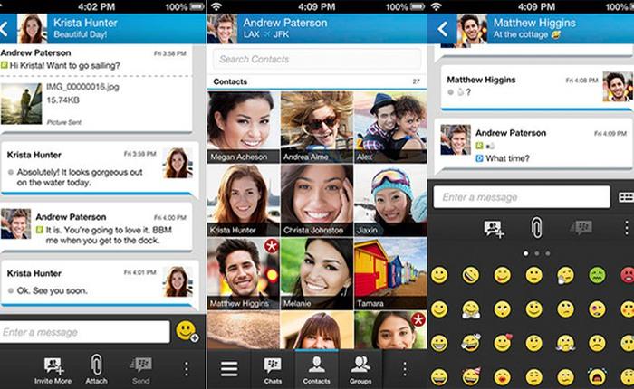 BBM hỗ trợ iPad và iPod, cập nhật tính năng mới cho iPhone và Android