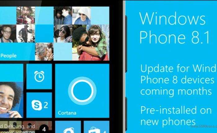 Windows Phone 8.1 chính thức phát hành vào 24/6