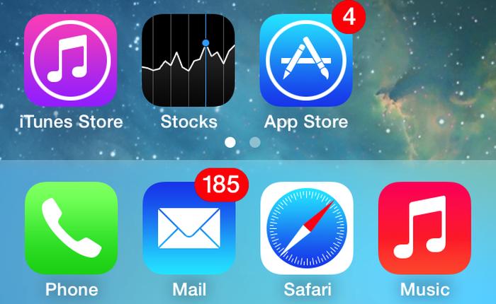 """iOS 7.1 gặp lỗi cho phép """"xóa tạm thời"""" ứng dụng mặc định"""