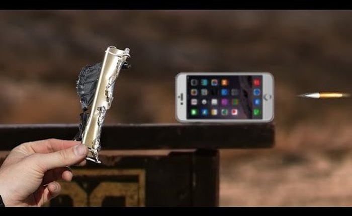 "[Video] Xem chiếc iPhone 6 bị ""xử' bởi Barrett M82A1"