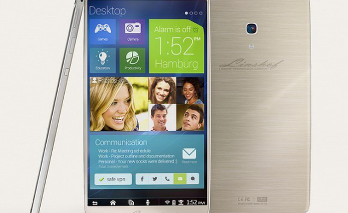 Smartphone Đức thiết kế lạ, camera trước 8 MP, dung lượng 80 GB