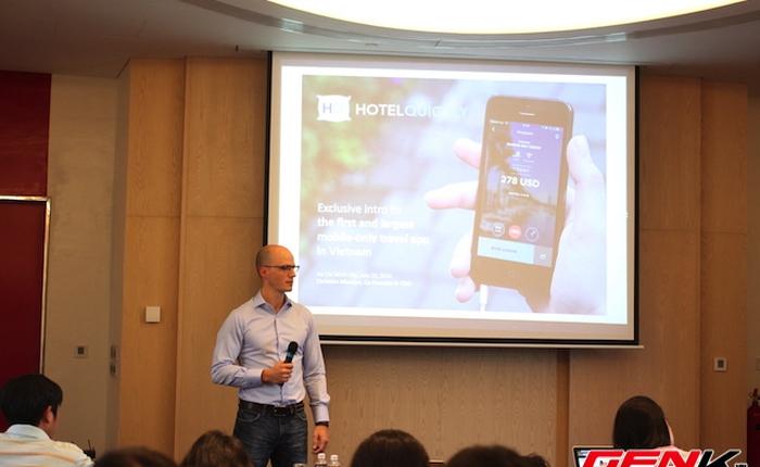 Ra mắt ứng dụng đặt phòng giờ chót HotelQuickly tại Việt Nam