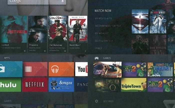 Rò rỉ Android TV - Kế hoạch thâm nhập phòng khách của Google