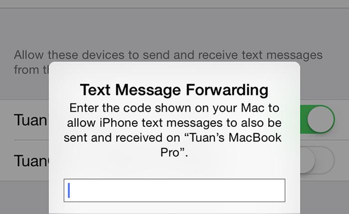 Làm thế nào để nhận và gửi tin nhắn SMS từ iPhone trên máy Mac?