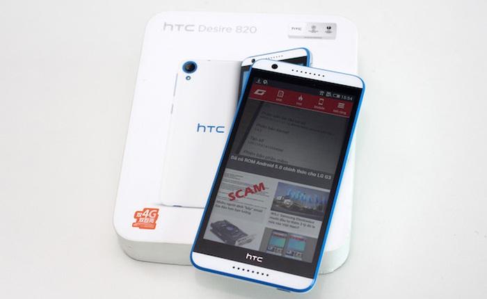 Mở hộp HTC Desire 820 2 SIM, 64 bit tại Việt Nam