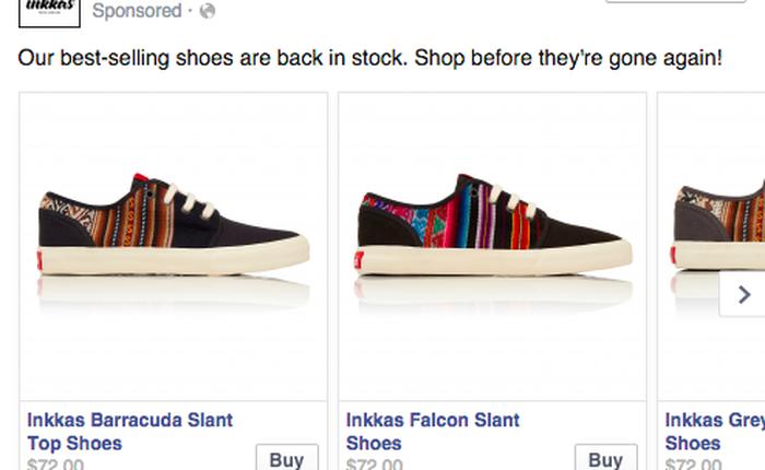 Tính năng mua hàng trực tiếp từ Facebook trông như thế nào?