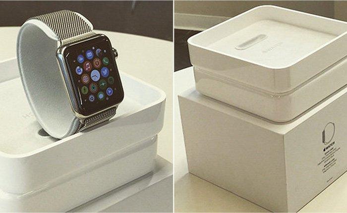 Xuất hiện ảnh chụp hộp đựng của Apple Watch