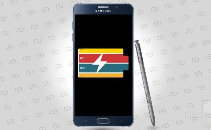 Galaxy Note 5 có thời gian dùng lâu hơn Note 4 dù dung lượng pin nhỏ hơn