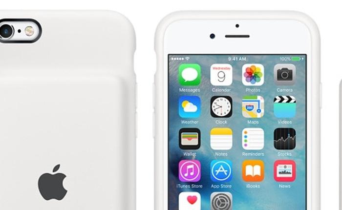 Apple tung ốp lưng kiêm pin dự phòng 25 giờ đàm thoại cho iPhone 6s