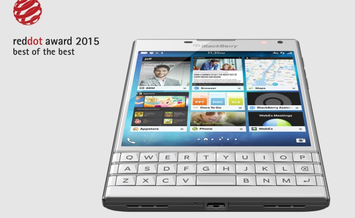 BlackBerry Passport được vinh danh tại sự kiện Red Dot Award 2015