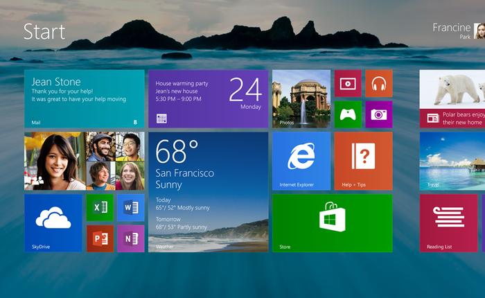 Windows 10 giúp thị phần Windows 8.1 chính thức vượt mặt Windows XP