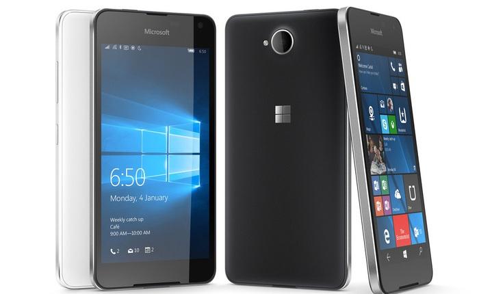 Lumia 650 trình làng: màn AMOLED, khung nhôm, Windows 10, giá chỉ 4,5 triệu đồng