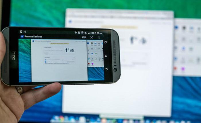 Chỉ bằng vài bước đơn giản, bạn sẽ điều khiển được máy tính bàn trên màn hình smartphone