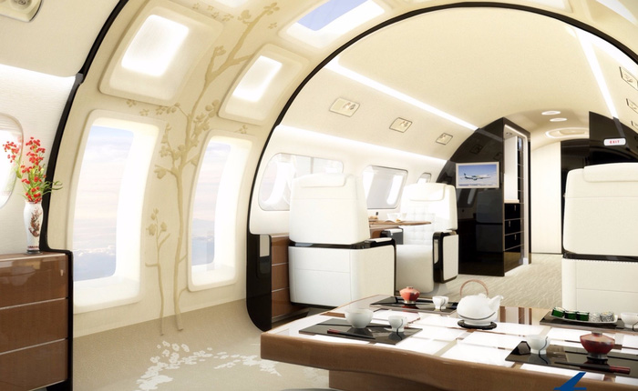 Máy bay đầu tiên trên thế giới lắp cửa sổ trời giúp hành khách quan sát