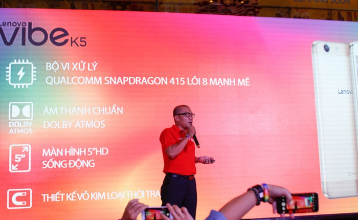 Lenovo chính thức giới thiệu bộ đôi Vibe K5 và Vibe K5 Plus, giá dưới 4 triệu đồng