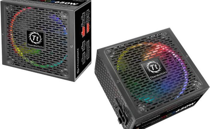 Thermaltake ra mắt nguồn máy tính gắn LED RGB, đạt chuẩn 80 Plus Gold