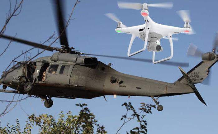 Đâm phải máy bay không người lái đồ chơi, trực thăng quân sự Mỹ phải hạ cánh khẩn cấp để thay cánh quạt