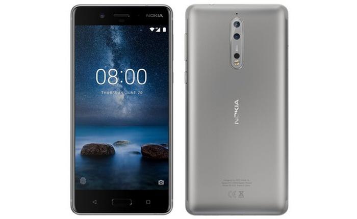Đây là Nokia 8 phiên bản màu Bạc, có camera kép