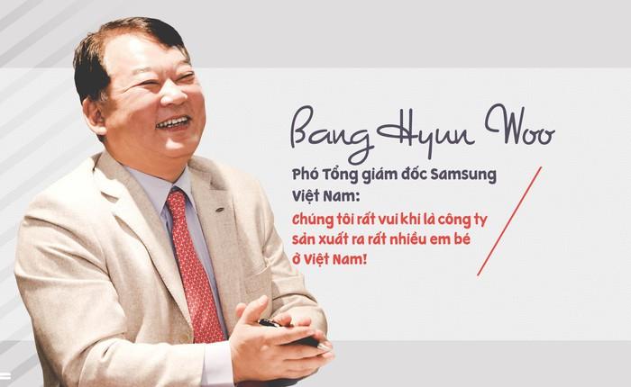 Phó Tổng giám đốc Samsung Việt Nam: Chúng tôi rất vui khi là công ty sản xuất ra rất nhiều em bé ở Việt Nam!