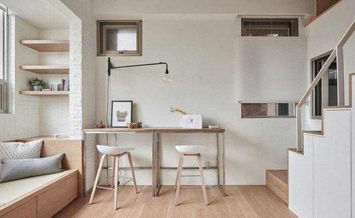 Căn hộ có gác xép có tổng diện tích chỉ 22m² đẹp không kém những căn hộ sang chảnh
