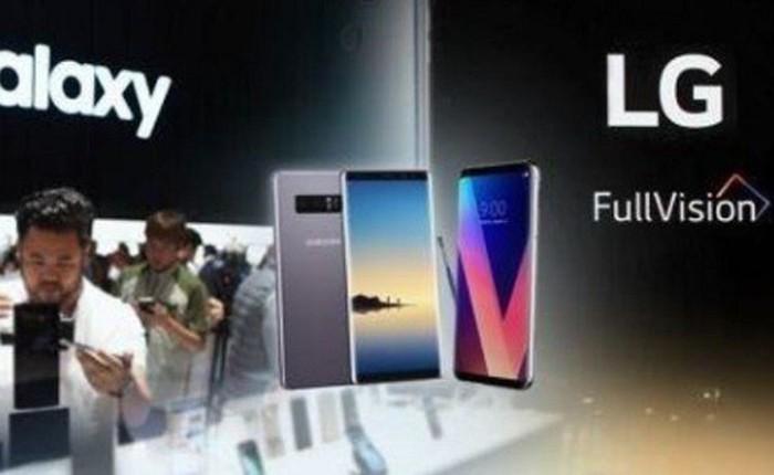 Năm 2017: Samsung vượt qua khủng hoảng, LG tiếp tục lún sâu vào thị trường smartphone đang ảm đạm